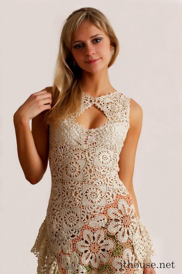 Вязание крючком модели платьев
